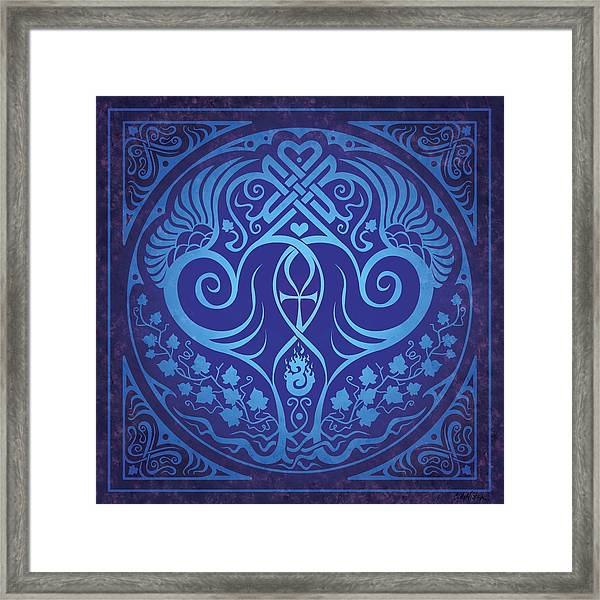 Soul Mates - Blue Framed Print