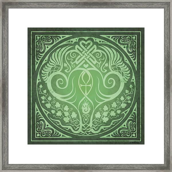 Soul Mates - Green Framed Print by Cristina McAllister