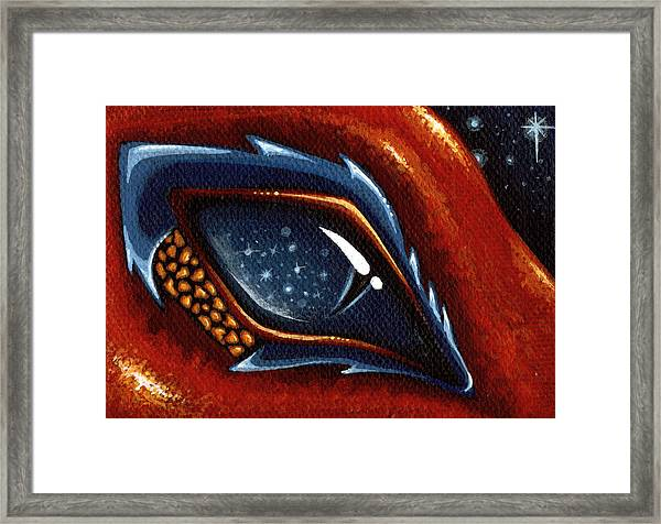 Soul Of The Starry Eyed Dragon Framed Print