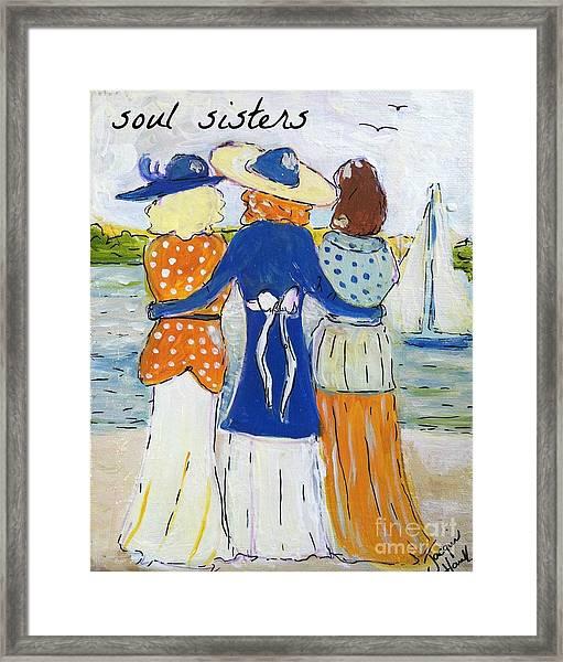Soul Sisters I Framed Print
