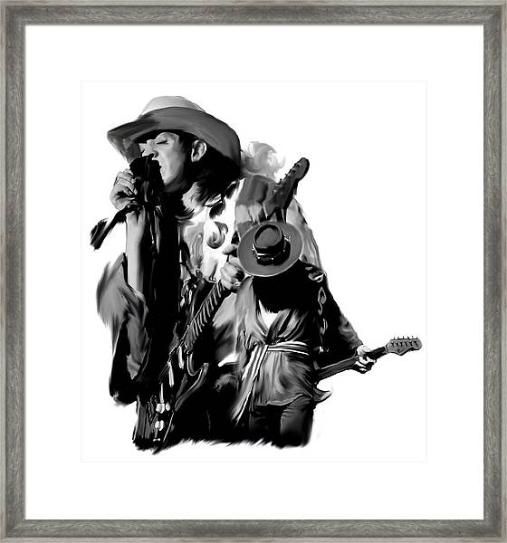 Soul To Soul  Stevie Ray Vaughan Framed Print