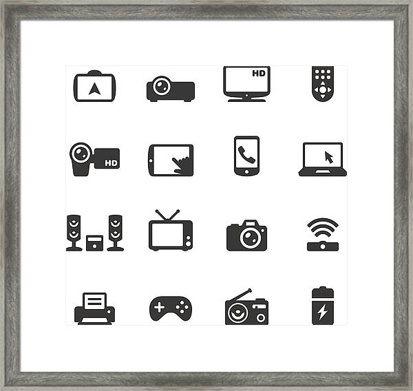 Soulico - Electronics And Gadgets Framed Print by Lushik
