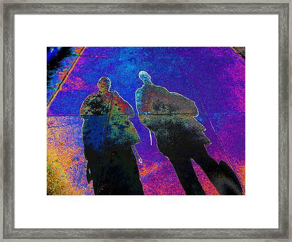 souls of 2 Veterans walking on Broadway - Glendale that is v3 Framed Print