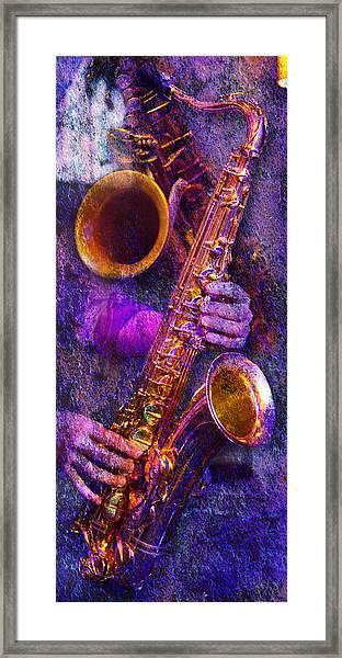 Sound Bites Niche Stacked Sax Framed Print
