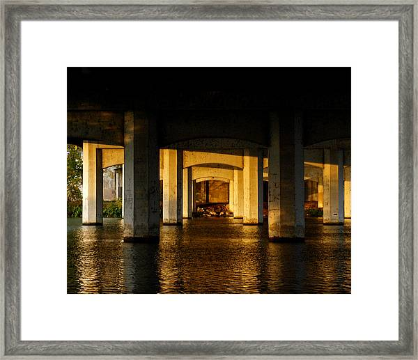 South 1st St. Bridge Framed Print
