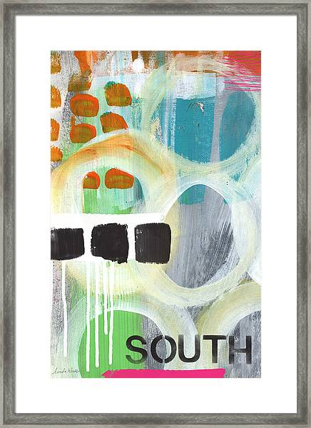 South- Abstract Expressionist Art Framed Print