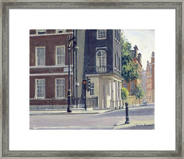 South Audley Street Oil On Canvas Framed Print