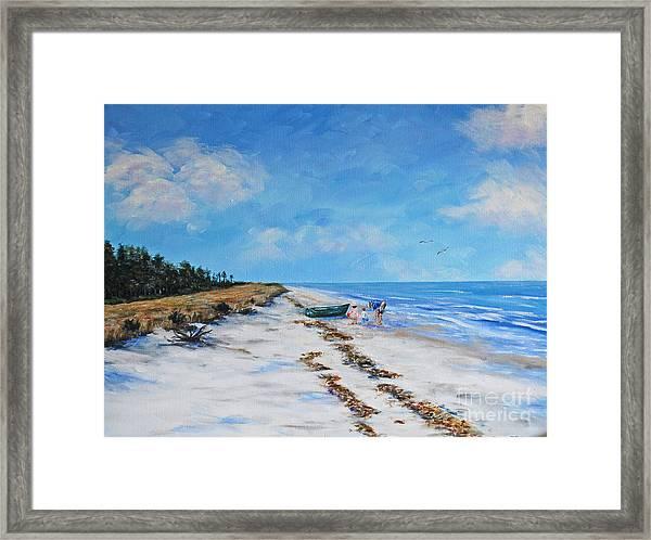 South Beach  Hilton Head Island Framed Print