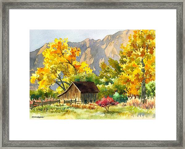South Boulder Barn Framed Print