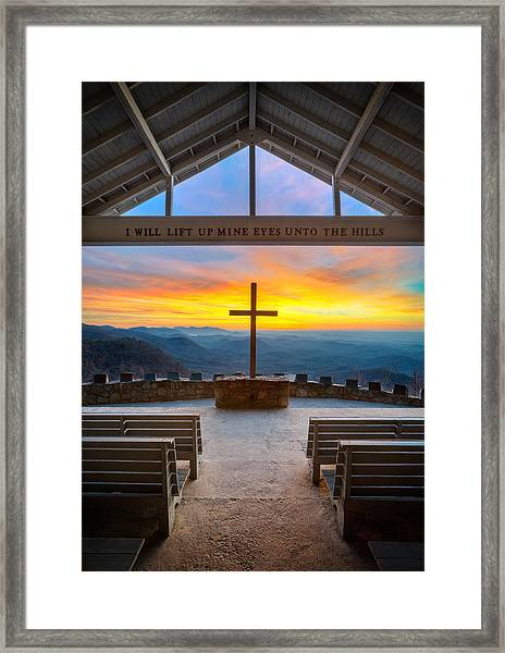 South Carolina Pretty Place Chapel Sunrise Embraced Framed Print