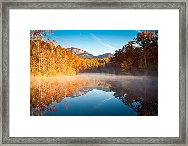 South Carolina Table Rock State Park Autumn Sunrise - Balance Framed Print