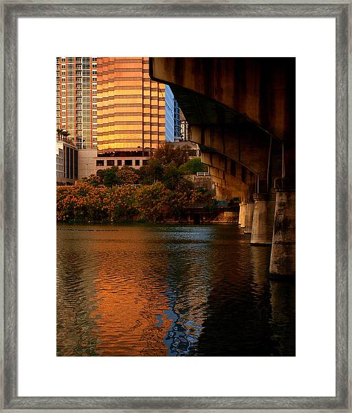South Congress Bridge Framed Print