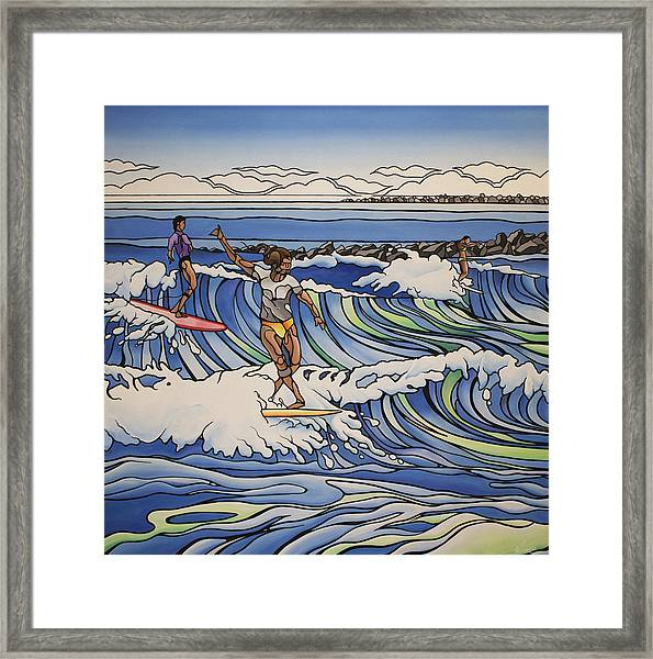 South End Wahines Framed Print