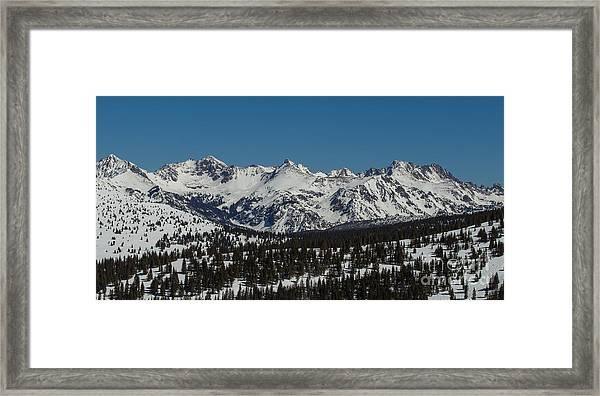 South Gore Range  Framed Print