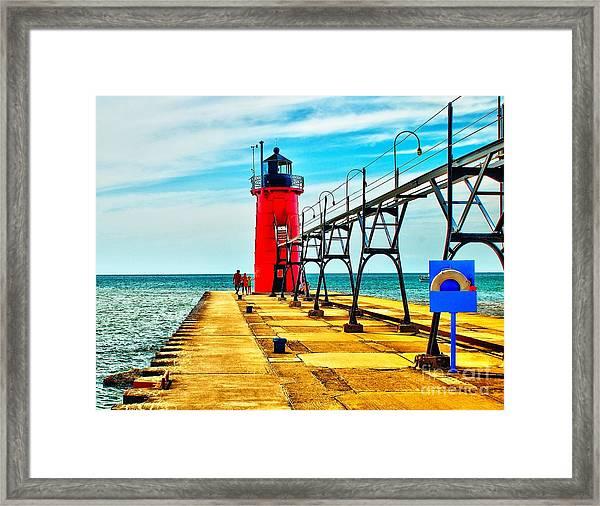 South Haven Lighthouse Framed Print