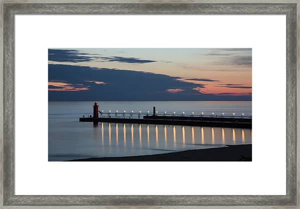 South Haven Michigan Lighthouse Framed Print