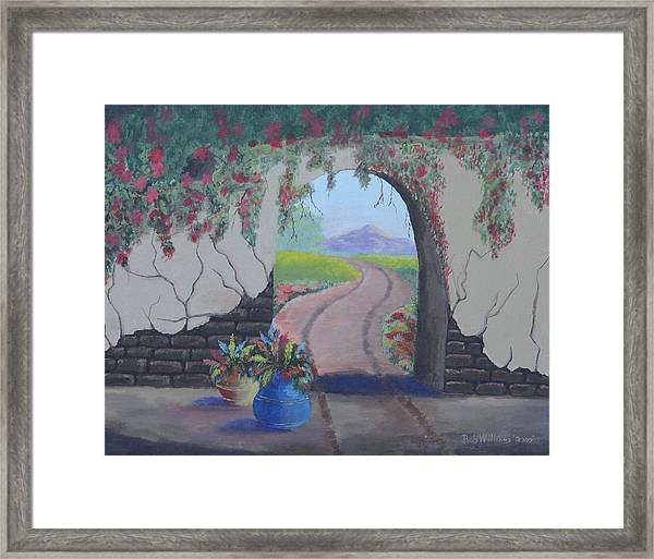 South Of The Border Framed Print