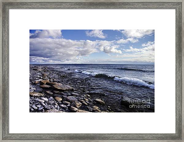 South Shore Amherst Island Framed Print