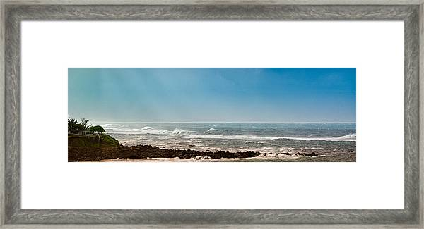 South Shore Maui Beach House Framed Print