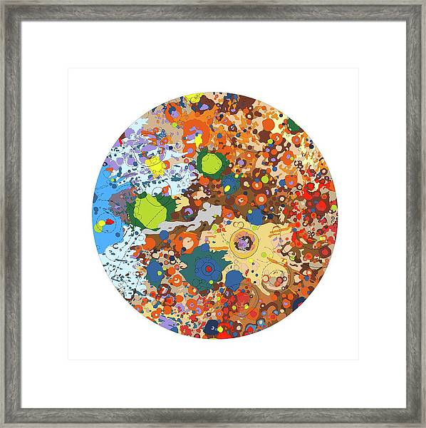 South Side Of The Moon Framed Print