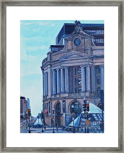 South Station Framed Print