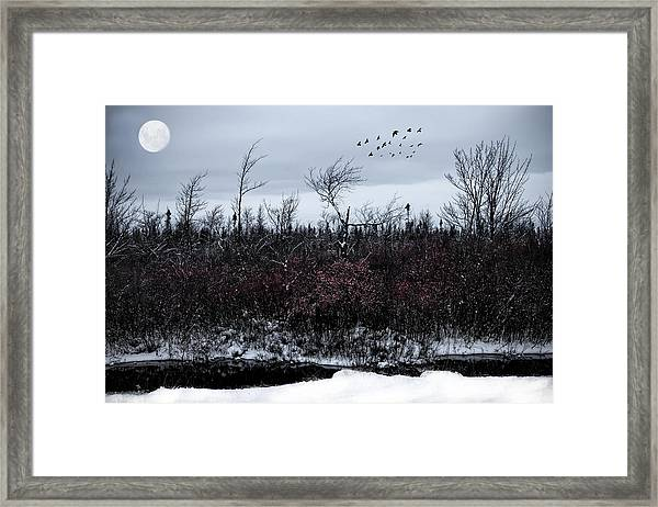 South To The Moon Framed Print
