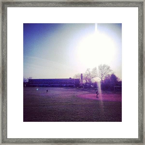 #south #vschsd #sky #sun #softball Framed Print