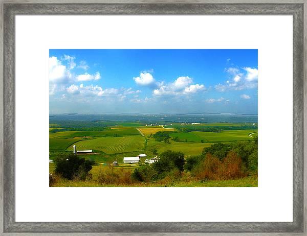Southern Illinois River Basin Farmland Framed Print