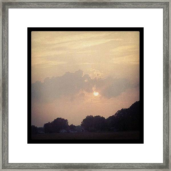 Southern Indiana Sunset Framed Print