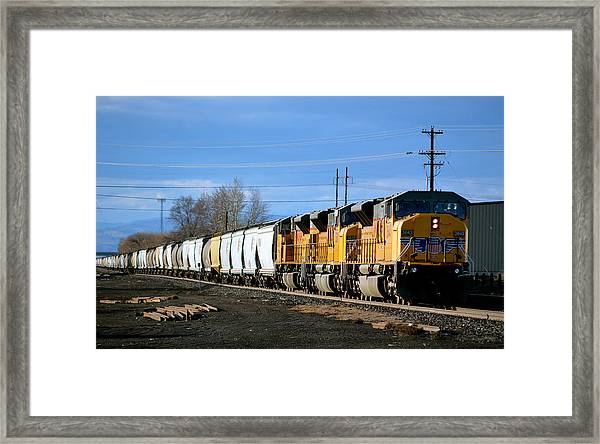Southern Pacific Loading Up Framed Print