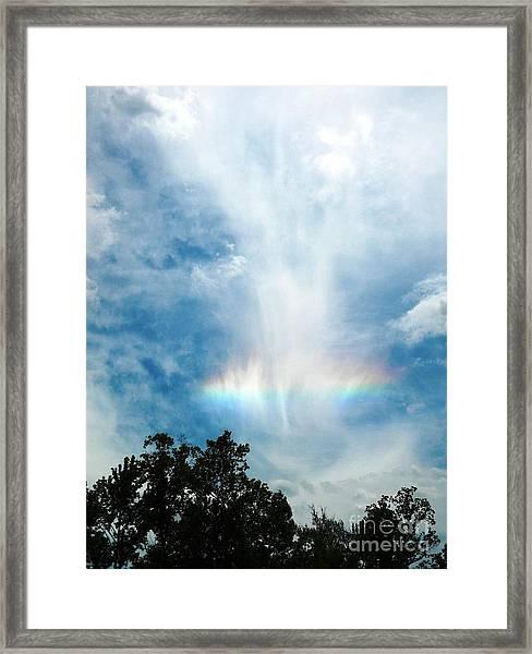 Southern Rainbow Cloud Framed Print