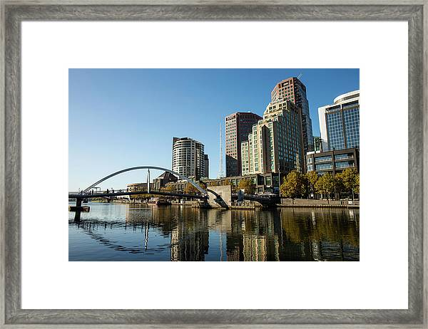Southgate And The Southbank Promenade Framed Print by Oliver Strewe