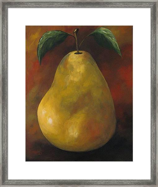Southwest Pear II Framed Print