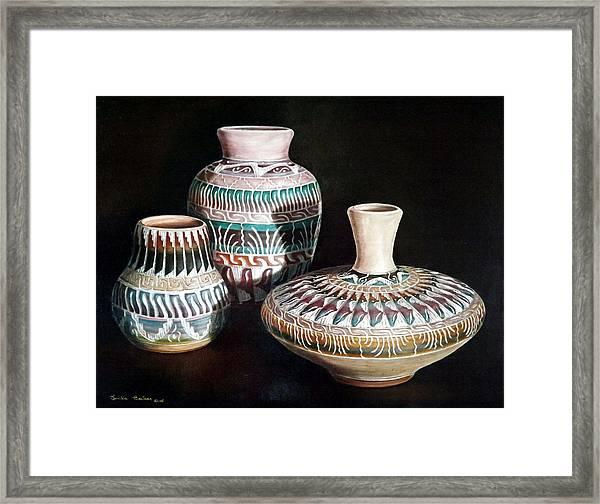 Southwest Pottery Framed Print