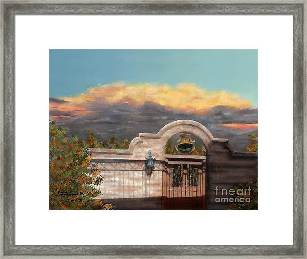 Southwestern Monsoon Sunset Framed Print by Judy Filarecki