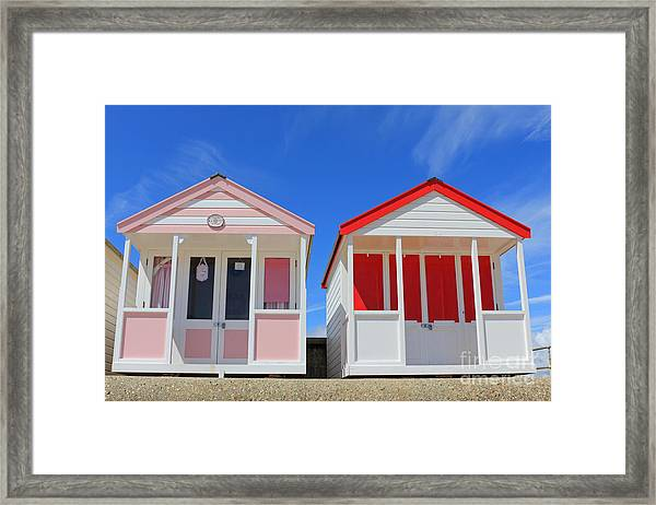Southwold Beach Huts Framed Print