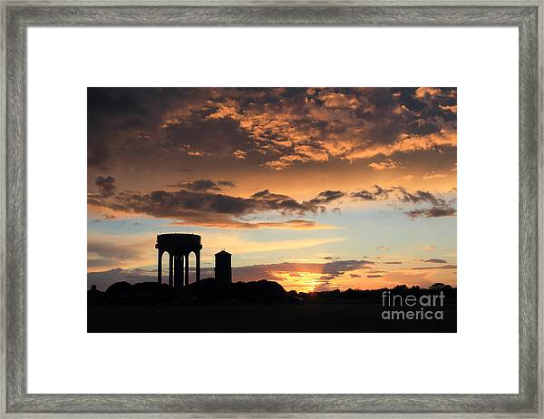 Water Towers On Southwold Common Framed Print