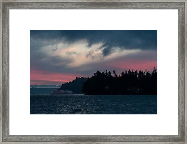 Southworth Ferry Run At Dawn Framed Print