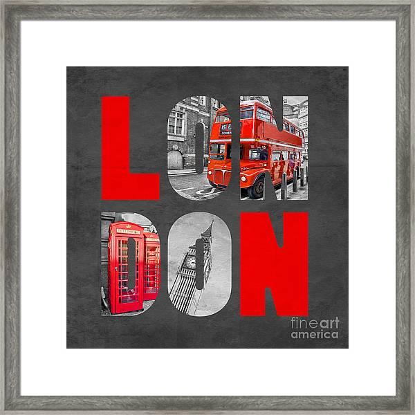 Souvenir Of London Framed Print