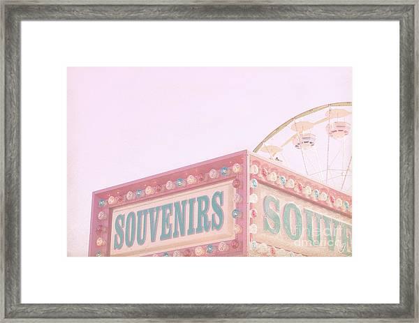 Souvenirs Framed Print
