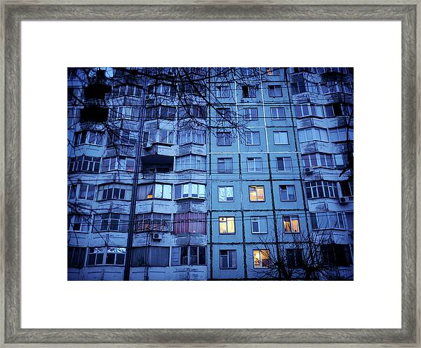 Soviet-era Housing In Transnistria Framed Print by Amos Chapple