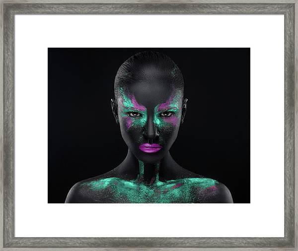 Space Framed Print by Alex Malikov