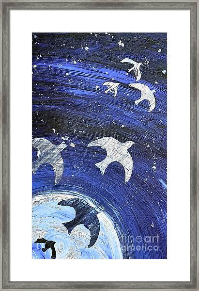 Space Flight Framed Print