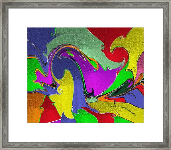 Space Interface Framed Print