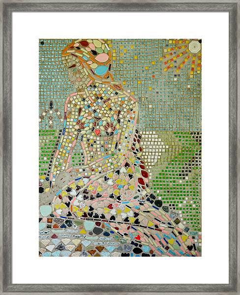 Space Mermaid Framed Print