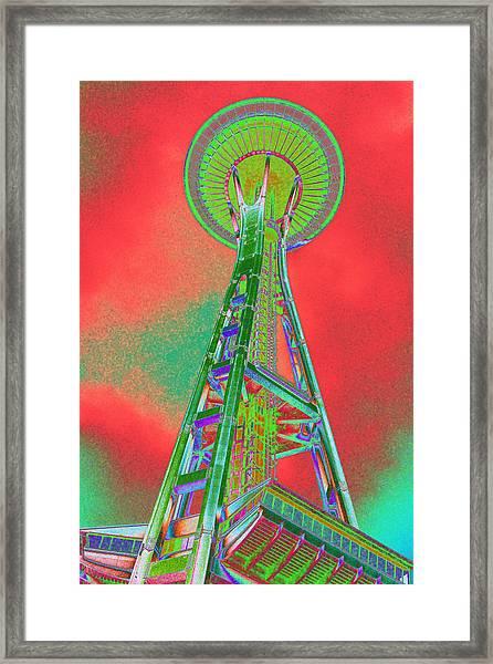 Space Needle On Acid Framed Print