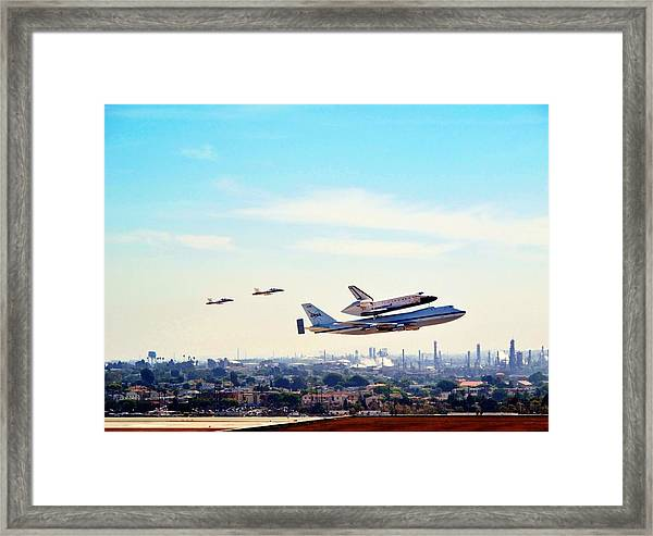 Space Shuttle Endeavour Flyby Framed Print