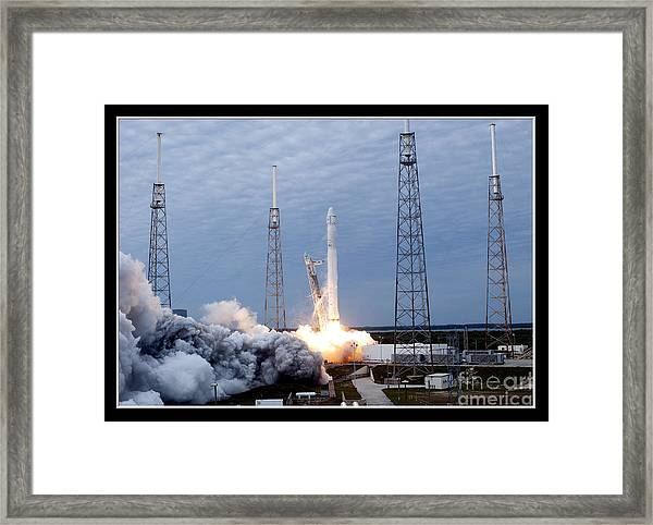 Spacex-2 Mission Launch Nasa Framed Print
