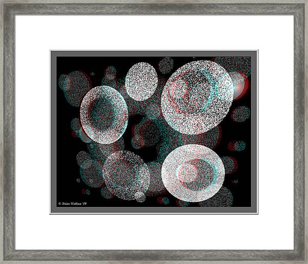 Spacial Rift - View With Or Without Red-cyan 3d Glasses Framed Print