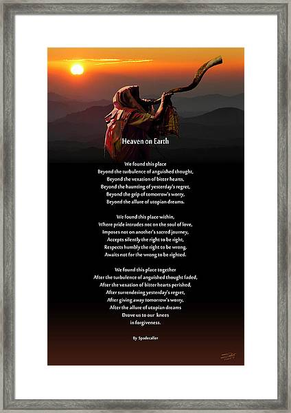 Spadecaller's Heaven On Earth Poster Framed Print by M Spadecaller